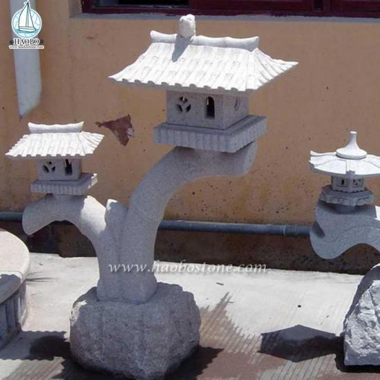 Japanese Style Granite Garden Stone Lantern - Lantern