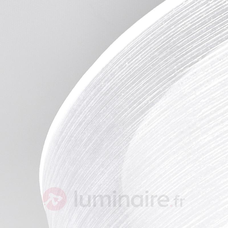 Plafonnier LED Pikka avec abat-jour blanc - Plafonniers LED