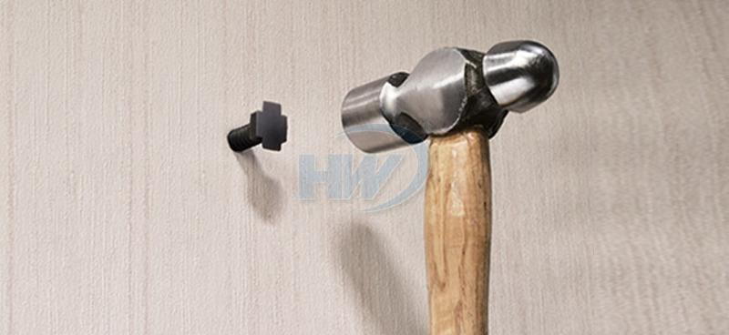 Cable Tie Mounts - Masonry Type, Polyamide,9mm Max. tie width,40.5mm Length