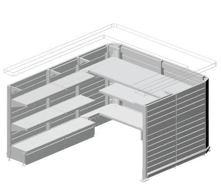 Modular shop rack systems & instore interior shelving design - Desks