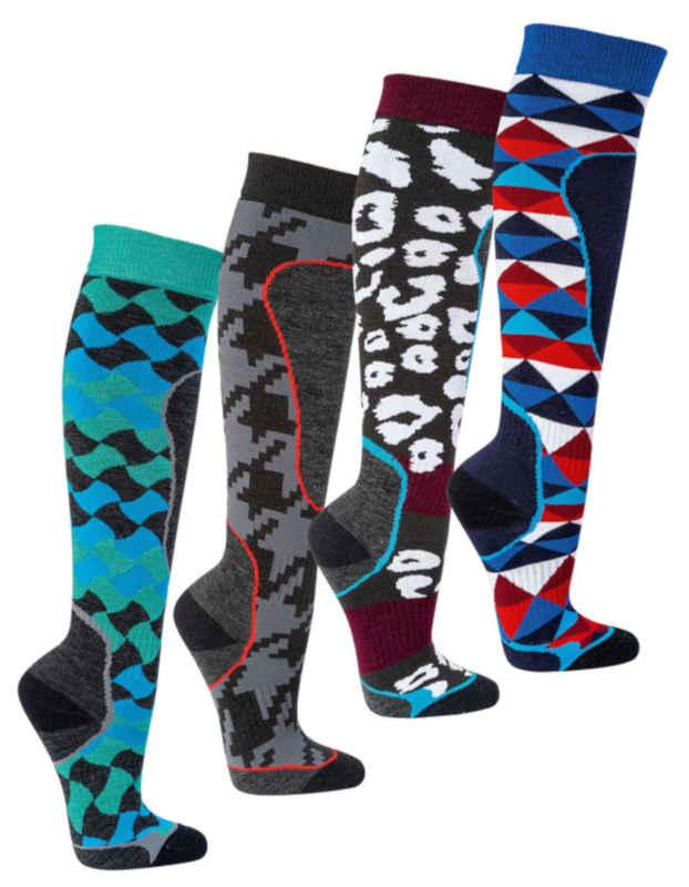 """6676 - Anti-Blister Ski-Socks """"SNOW FUN"""" - with innovative nano yarn against blisters and preassure marks"""