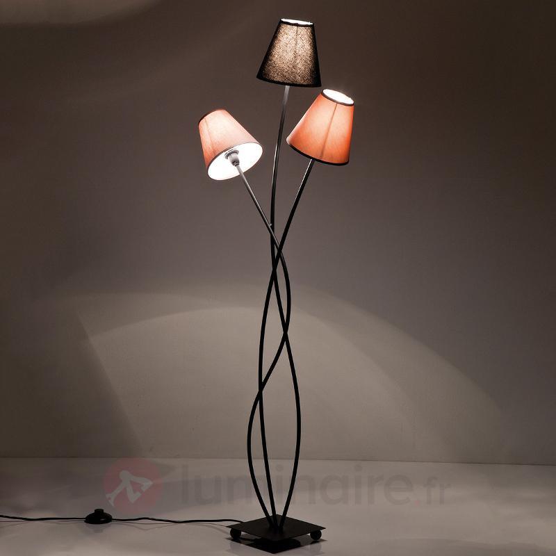 Lampadaire Flexible Mocca Tre à 3 lampes - Lampadaires en tissu
