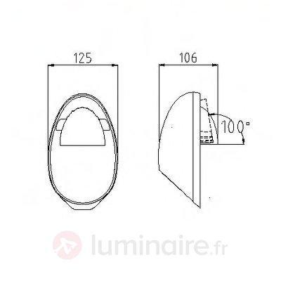 Applique d'extérieur ingénieuse LED EGGO - Appliques d'extérieur LED