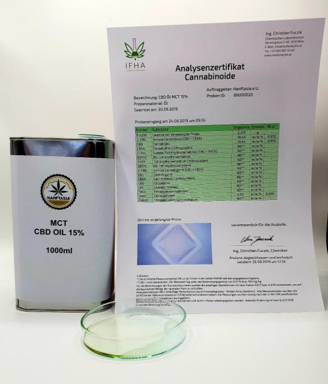 Olio di CBD MCT 10% 1 litro - MCT - L'olio di canapa CBD scende al 10% 1 litro da 100.000 mg di CBD