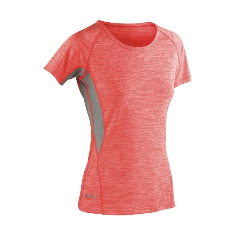 Tee-shirt femme Fitness séchage rapide - Hauts manches courtes
