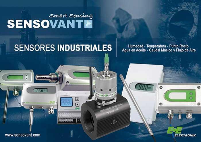 Sensores de Humedad Industriales - Humedad-Temperatura-Punto Rocio-Agua en Aceite-Caudal Másico-Flujo Aire