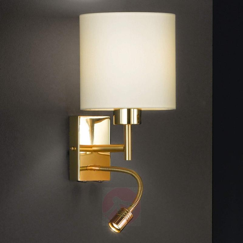 Wall lamp Mainz with LED flexible arm - design-hotel-lighting