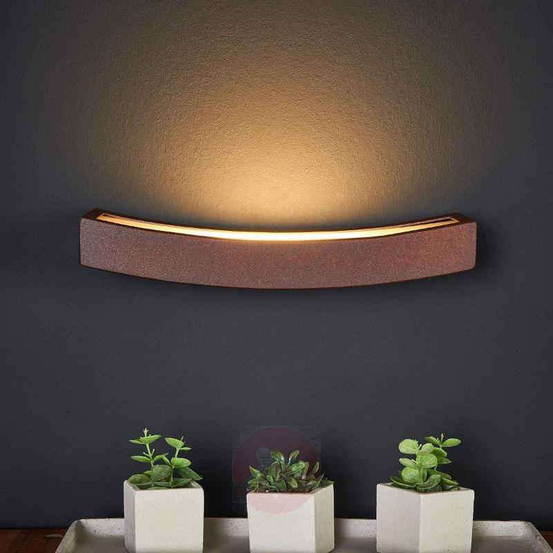 Rust Dolce LED wall light with indirect light - Wall Washer Lights