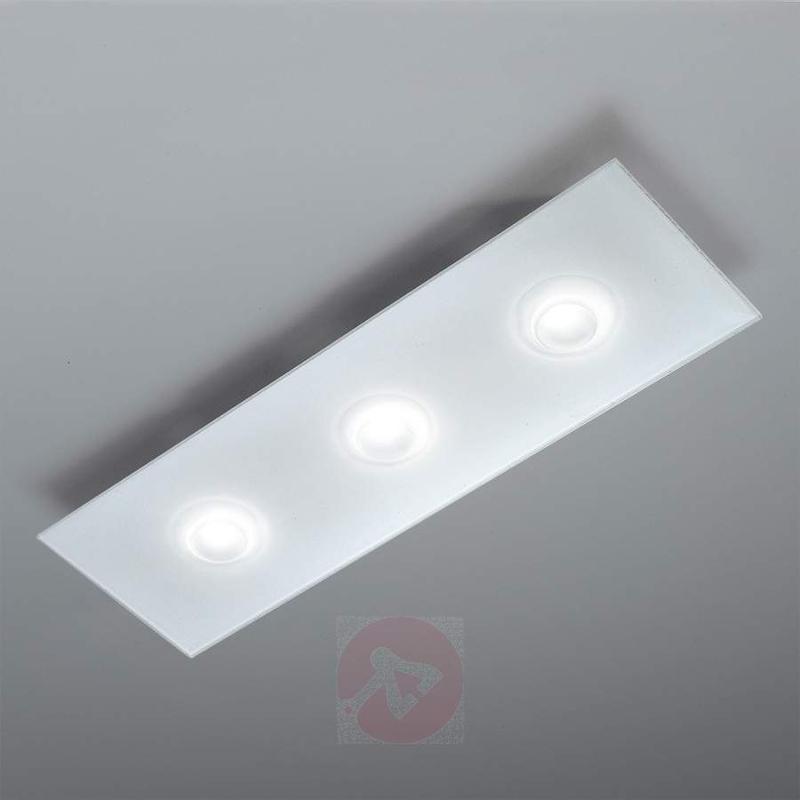 White LED ceiling light Pois, 3-bulb - Ceiling Lights