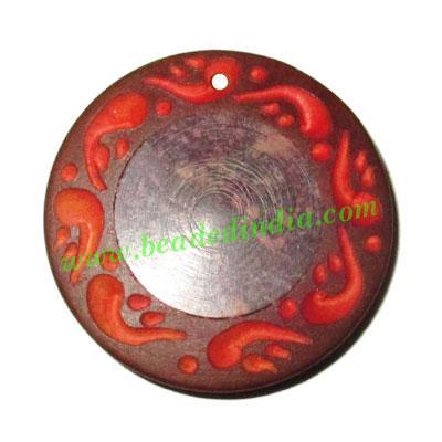 Handmade wooden fancy pendants, size : 34x6mm - Handmade wooden fancy pendants, size : 34x6mm