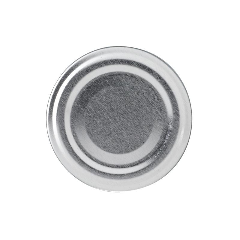 100 Capsules TO 82 mm argent pasteurisables - ARGENT