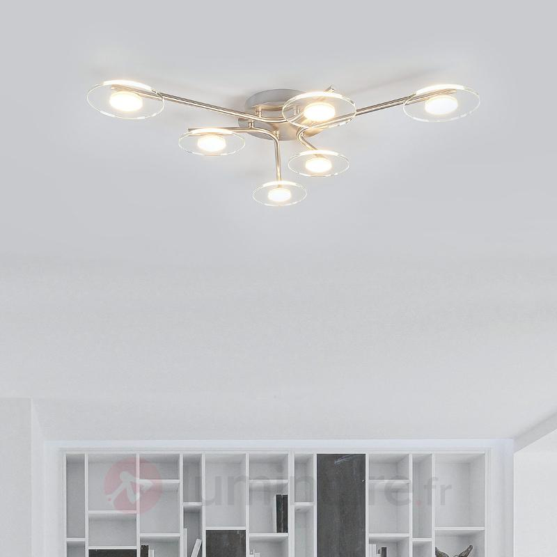 Plafonnier LED Tiam à 6 lampes - Plafonniers LED