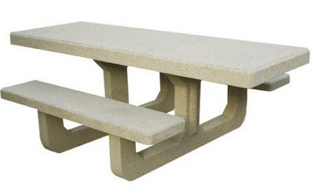 Table de pique nique béton PMR - Aménagement extérieur