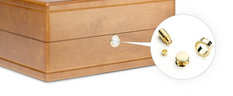 Clasps for fastening to wood