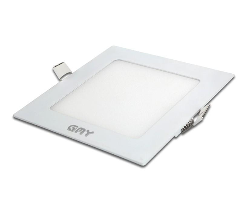 Dalle LED encastrable carrée extra-plate - 18W, 4000K, 225 mm