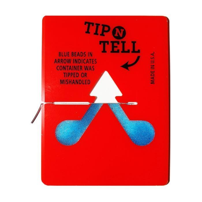 Tip Tell - Wskazówka N Powiedz etykietom | Wysyłka etykiet wskaźnika pochylenia