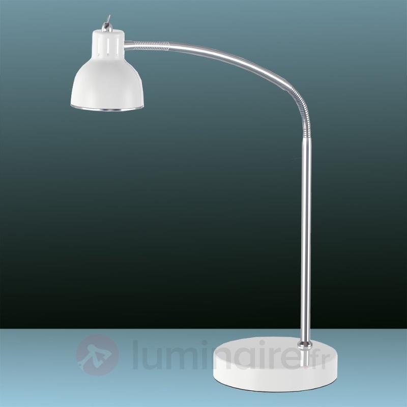 Lampe à poser LED courbée Duett blanche - Lampes à poser LED