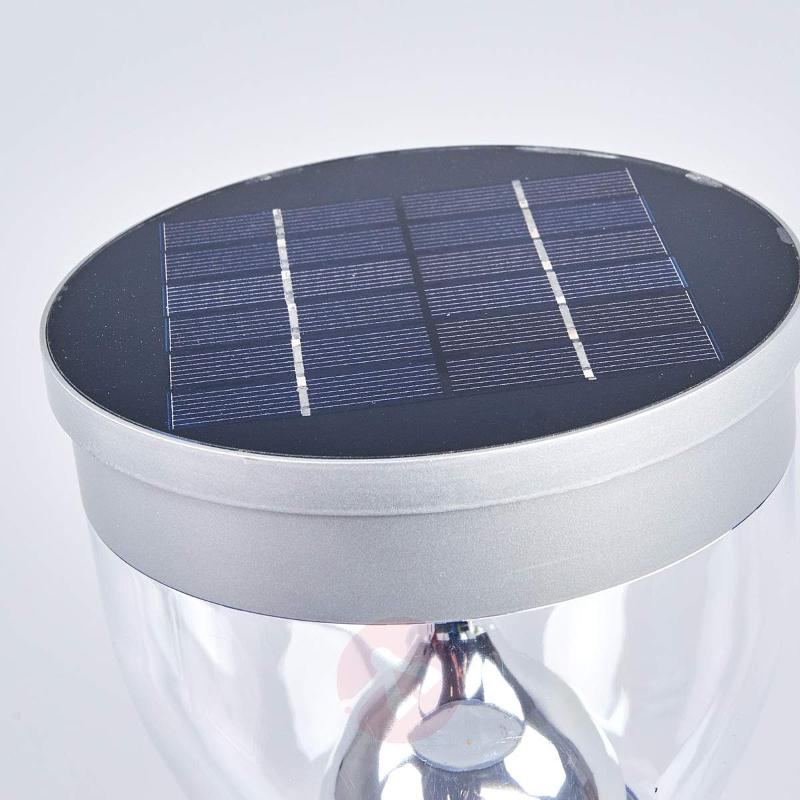 Eda - solar LED pillar light from stainless steel - Pillar Lights