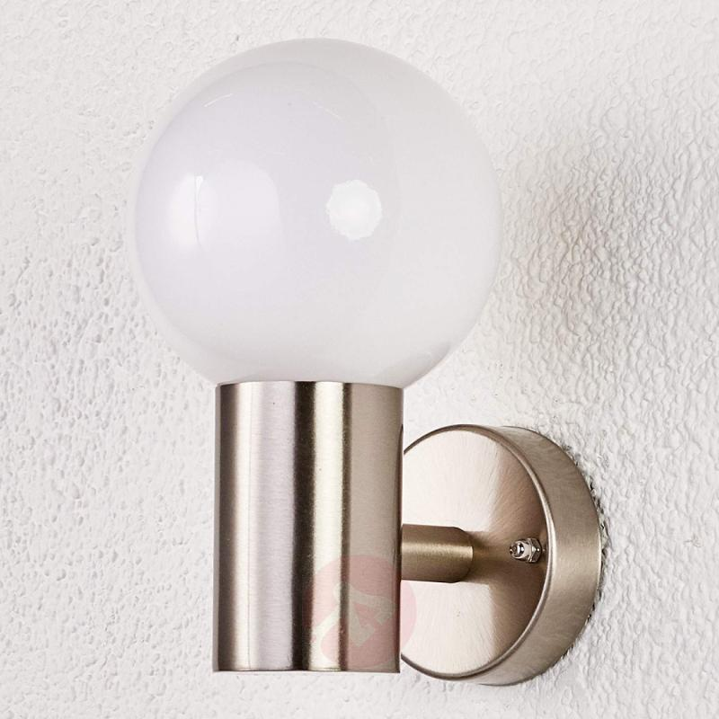 Beautiful outdoor wall light Tomma - stainless-steel-outdoor-wall-lights