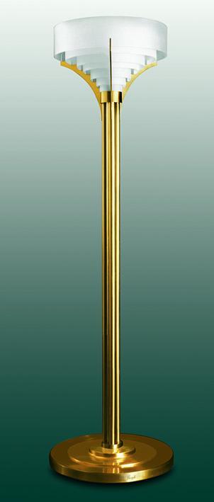lámpara de pie art deco - modelo 38