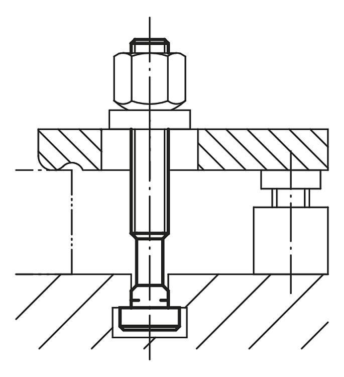 Boulon en T DIN 787 - Éléments de liaison