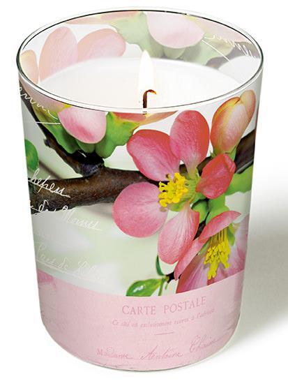 Glaskerze - Blütengrüße