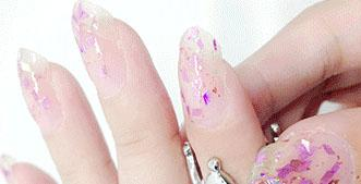Cosmetics - Purple Glitter Transparent Nail Polish