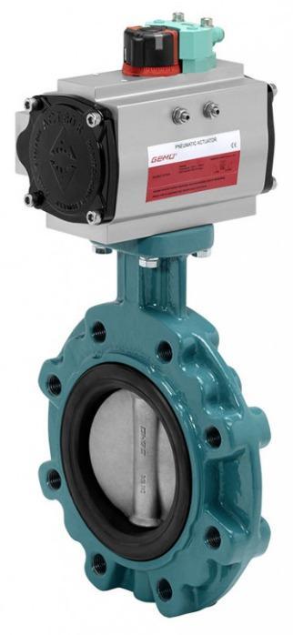 GEMÜ 481 - Válvula borboleta de acionamento pneumático