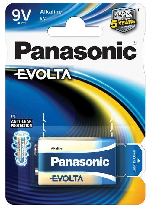 Batterie transistor 9V Evolta - 6LR61EGE/1BP | Blister da 1 pila 9V Panasonic