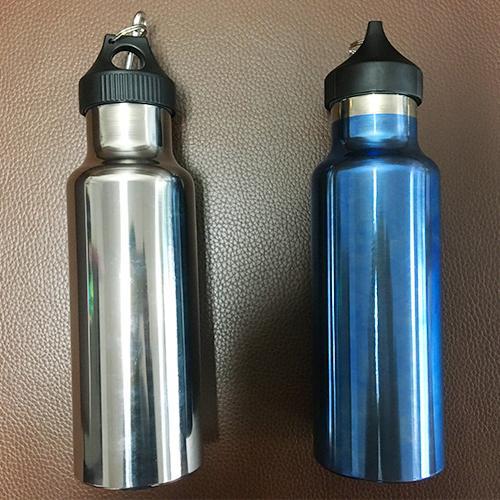 Titanium Bottle - Pure Titanium, Polishing anodizing  single sport water bottle,70x220mm, 650ml
