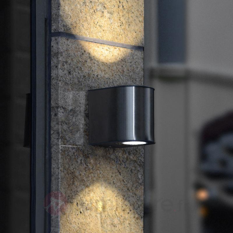 Élégante applique d'extérieur LED Gemini IP54 - Appliques d'extérieur inox