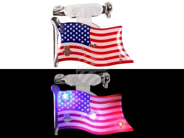 Blinki Blinker rot weiss blau Motiv: Flagge USA - null