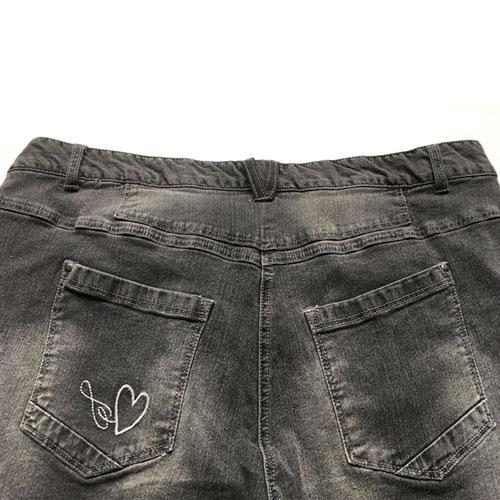 Pantalones cortos de mezclilla - Pantalones medios del azul del dril de algodón