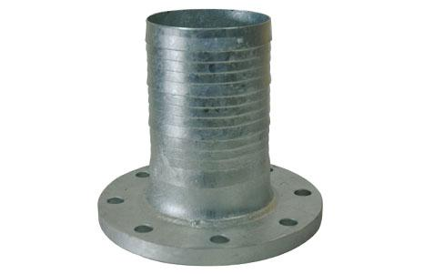 Flange couplings - Fixed flange, turned nozzle with serrated profile