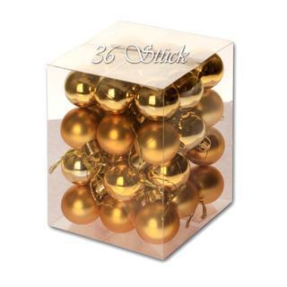 Weihnachtskugel 36 Stück 3cm Durchmesser Farbe: Gold - null