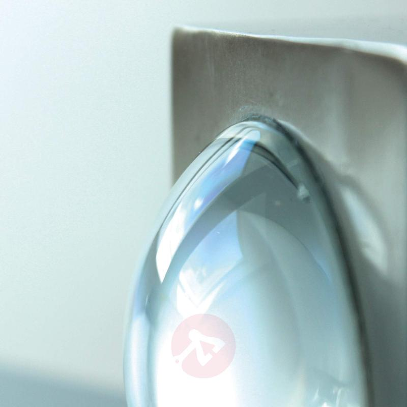 Stainless steel Crystal ext. wall light with LED - stainless-steel-outdoor-wall-lights