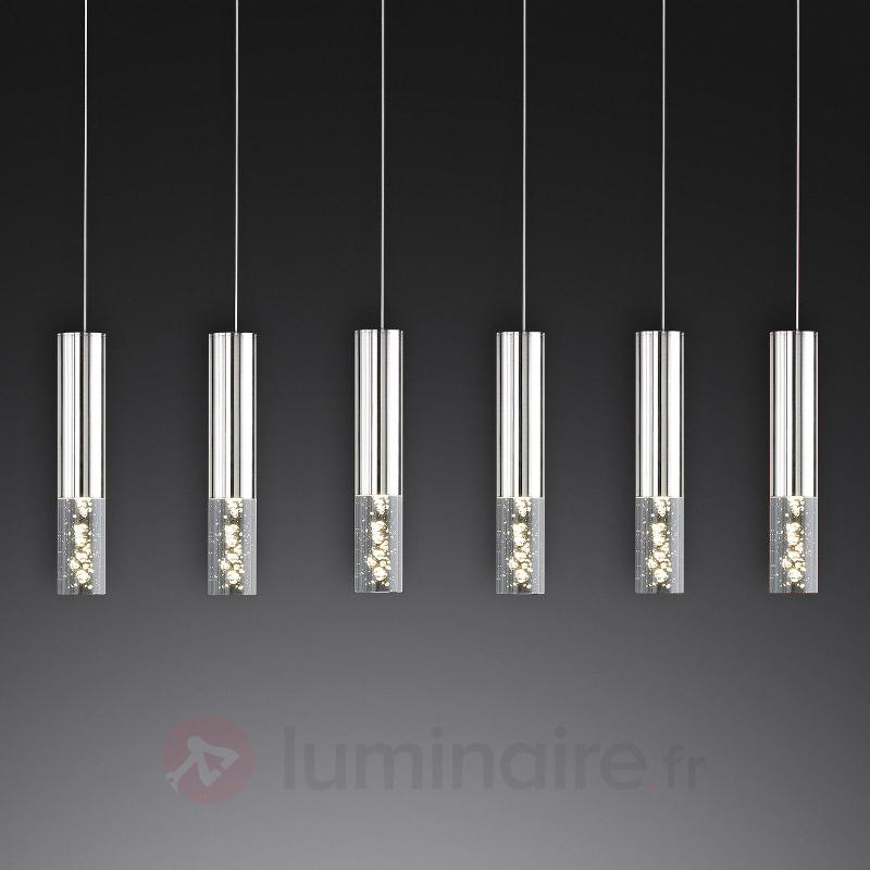 Suspension LED à six lampes Bubble - Cuisine et salle à manger