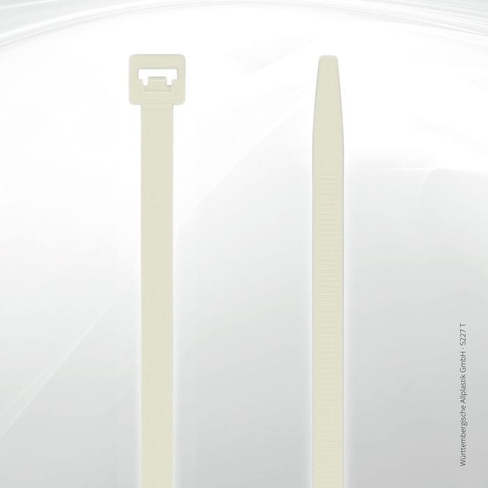Heat resistant cable ties Allplastik-Kabelbinder® - 5227 T (natural)