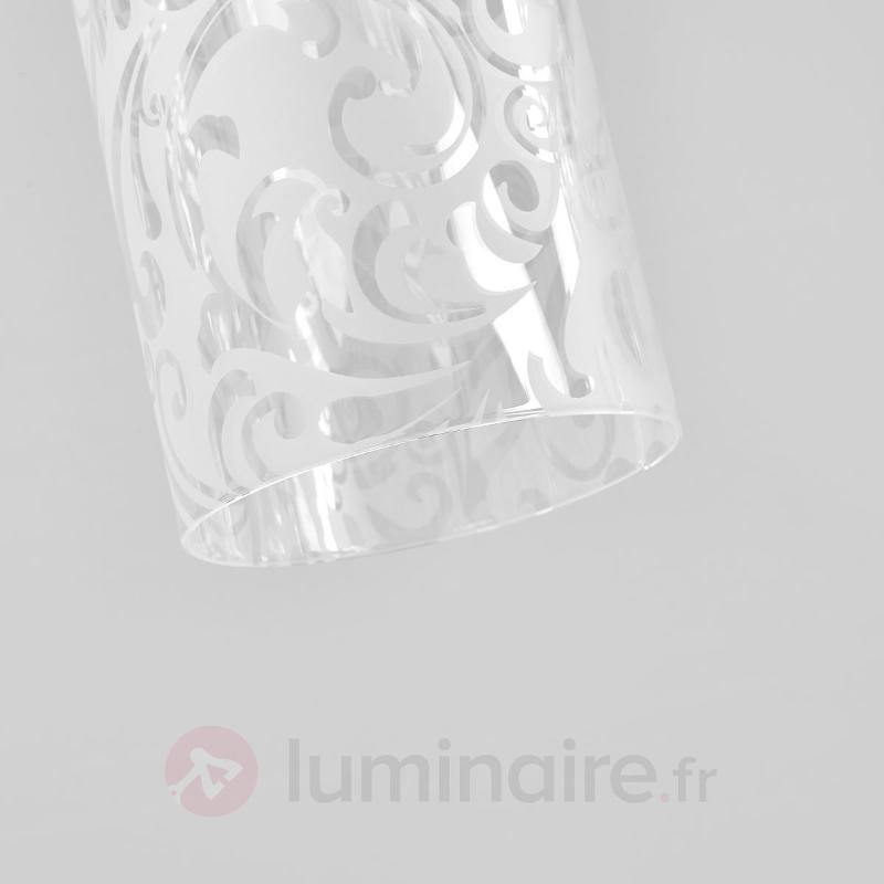 Suspension en verre Fresh avec ornements - Suspensions en verre