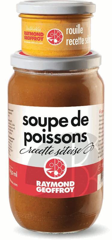 Soupe de poissons recette sétoise bocal 780g + rouille... - Produits de la mer
