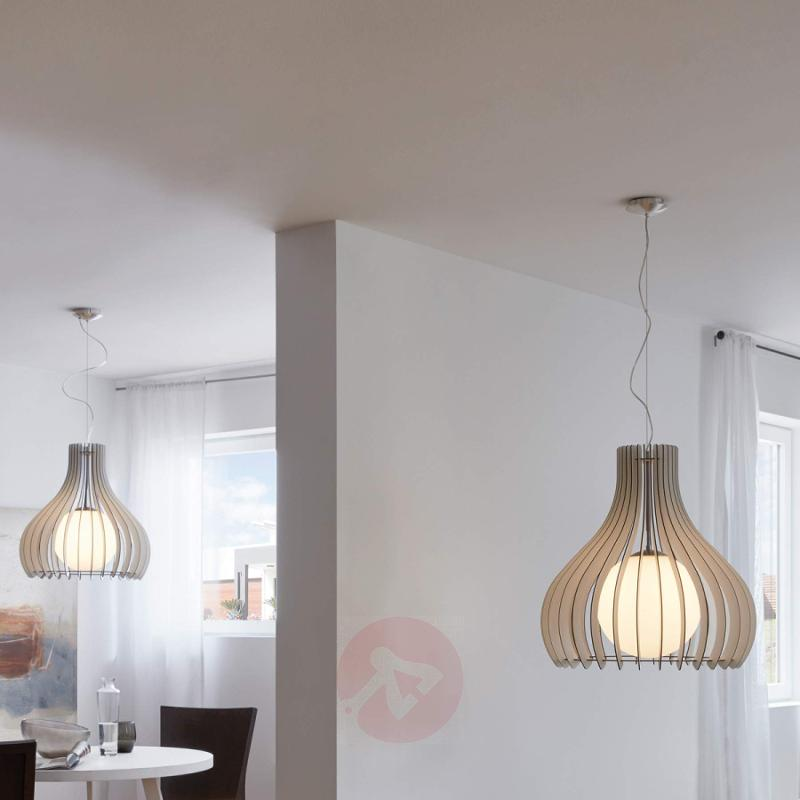 Wonderful Tindori hanging lamp, made of wood - indoor-lighting