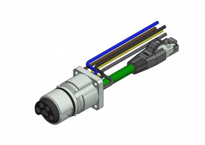 B23 Hybrid Einbauflansche - CONEC Hybrid Einbauflansche Baugröße B23