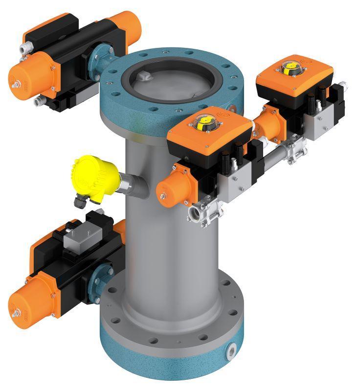 Solución del sistema - Cycle Lock - Los medios polvorientos son descargados y dosificados con el bloqueo de ciclo.
