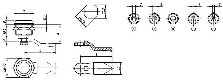 Serratura girevole - K0522