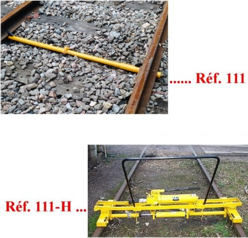 Track Lining and Leveling Equipment - Device to widen or narrow the Gauge