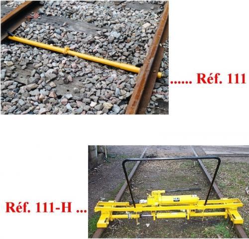 Appareils à écarter ou resserrer les rails - Tirant de maintien d'écartement - null