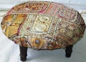 Vintage Kantha Ottomans -