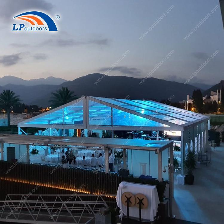 Tienda de boda transparente de 15 m de luz transparente para - Tienda de fiesta de 15 metros de LP OUTDOORS