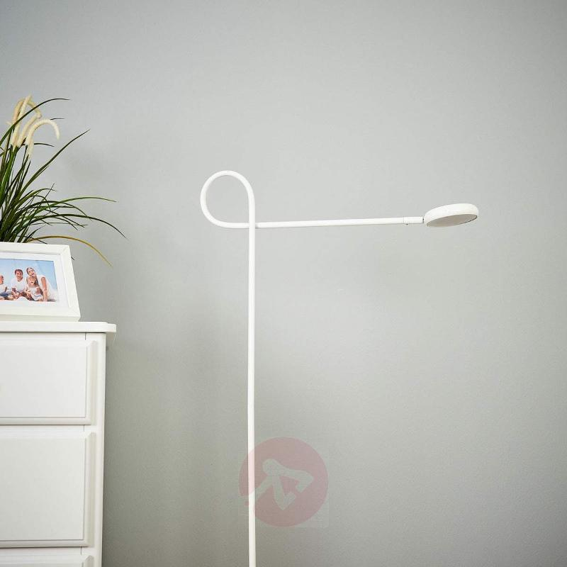 Cloude White - LED floor lamp with rotatable head - Floor Lamps