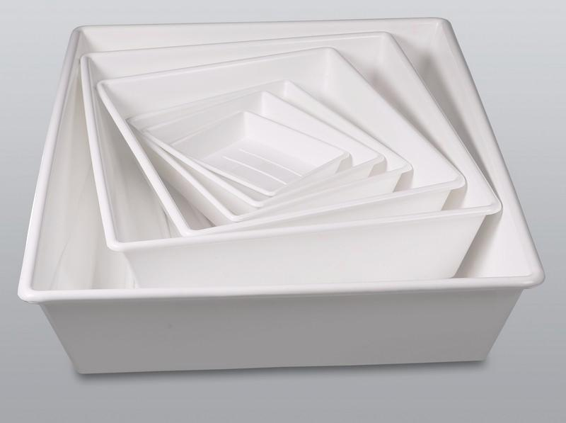 Laboratory trays - Laboratory equipment, PP, white, spill troughs separate